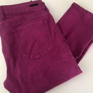 Magenta jeans